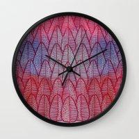 Leaves / Nr. 6 Wall Clock