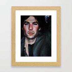 Ian Somerhalder (Damon from Vampire Diaries) Framed Art Print