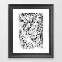 Flowing Obsessions Framed Art Print