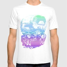 Monkeys in living Color White SMALL Mens Fitted Tee