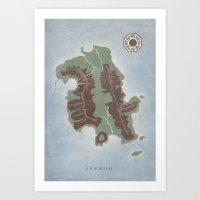 Lost Island Art Print