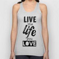 Live Life Love Unisex Tank Top