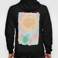 Pastel Roses On An Abstr… Hoody