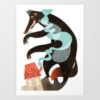 Who's Afraid Of Wolves? Art Print
