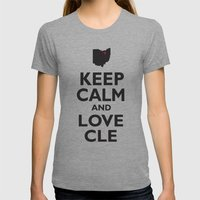 Keep Calm and Love CLE Womens Fitted Tee Athletic Grey SMALL