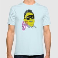 F*ck Sh*t Up Mens Fitted Tee Light Blue SMALL
