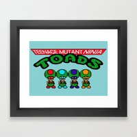 Teenage Mutant Ninja Toads Framed Art Print