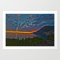 Mediterranean Sunset Art Print