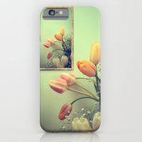 iPhone & iPod Case featuring Tulips Tulips -- Spring Botanical Still Life by V. Sanderson / Chickens in the Trees