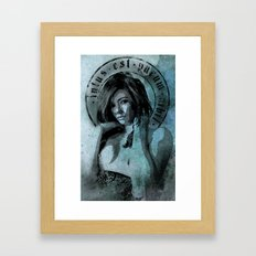 Purity Within Nothingness Framed Art Print