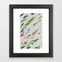 plant specimen 1 - neutral Framed Art Print