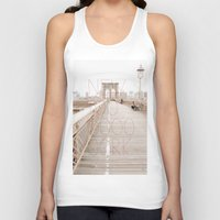 New York romantic typography vintage photography Unisex Tank Top