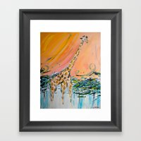 The Weather Up There Framed Art Print