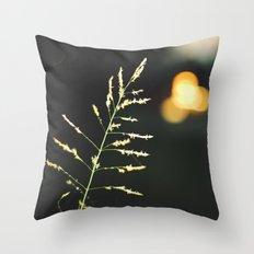 twilight bokeh Throw Pillow