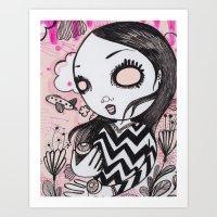 I Lost My Eyeballs. Art Print