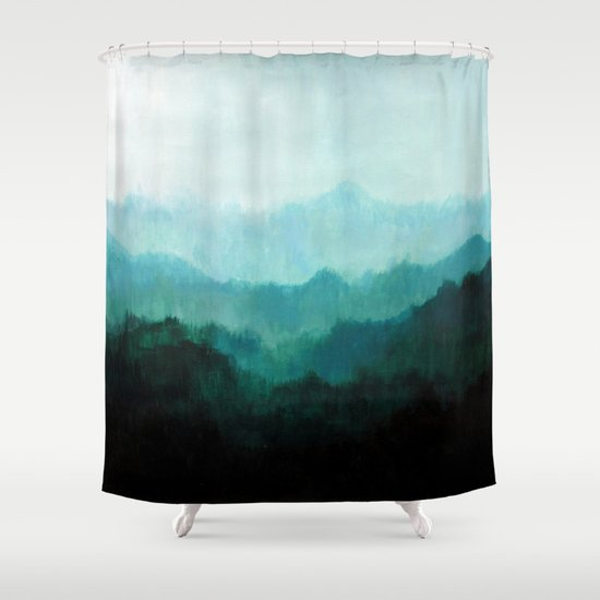 mists no 2 shower curtain by prelude posters society6. Black Bedroom Furniture Sets. Home Design Ideas