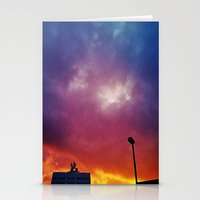 Rainbow Clouds Stationery Cards