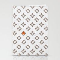 Orange in the city Stationery Cards