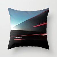 Lights Cutting Through the Sky Throw Pillow