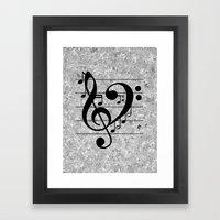 Love Music Framed Art Print