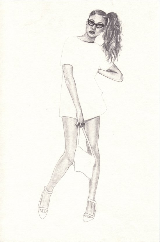 No.2 Fashion Illustration Series Art Print