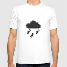 cloudbomb SMALL Mens Fitted Tee White
