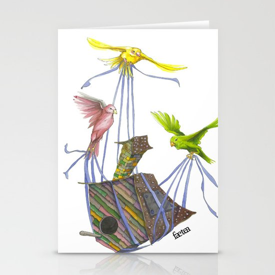 Fly Away Home Stationery Card