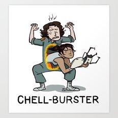 Chell Burster Art Print