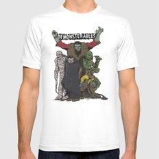 The Demonsterables White SMALL Mens Fitted Tee