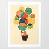 Whimsical Hot Air Balloon Art Print