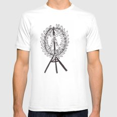 still drunk White Mens Fitted Tee SMALL
