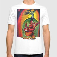 Zenbot Mens Fitted Tee White SMALL