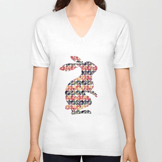The Pattern Rabbit V-neck T-shirt