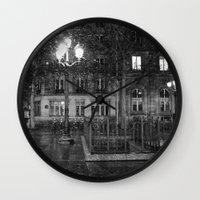 Paris road Wall Clock
