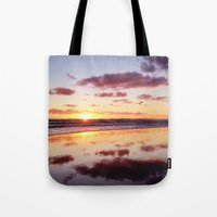 Sunset In Newport Beach Tote Bag