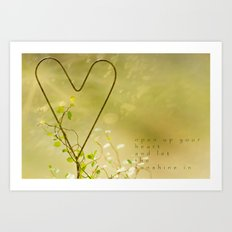 Open Your Heart Art Print