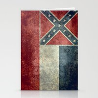 Mississippi State Flag, Distressed version Stationery Cards