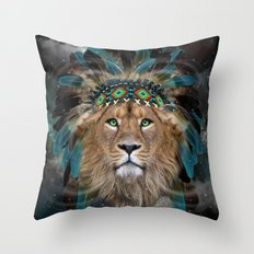 Fight For What You Love (Chief of Dreams: Lion) Tribe Series Throw Pillow