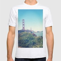 The Golden Gate Mens Fitted Tee Ash Grey SMALL