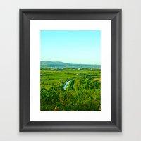 Dungarvan Fields Framed Art Print