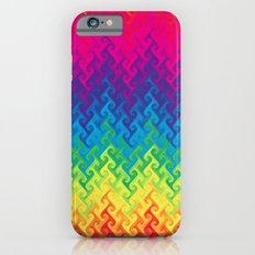 neon rainbow flame chevron iPhone 6 Slim Case