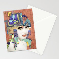 Nouveau Girl 2 (aged finish) Stationery Cards