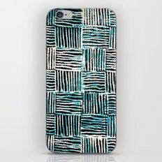 Black and Blue Pattern Print iPhone & iPod Skin