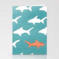 Splashy Sharks Stationery Cards