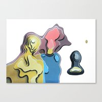 Father, mother and son Canvas Print