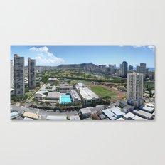 Honolulu View Canvas Print