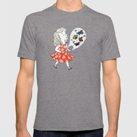 Butterflies, to Go Mens Fitted Tee Tri-Grey SMALL