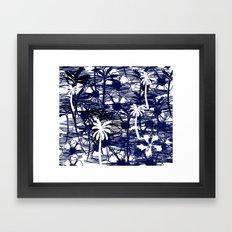 Blue Tree Framed Art Print