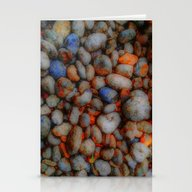 Stationery Cards featuring Glowing Pebbles by Mimulux