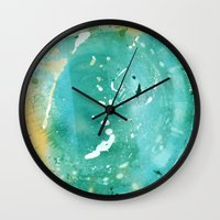 Blue Fantasy Planet Wall Clock